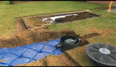 Regenwater_opvang_bak in gras gemonteerd