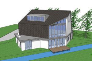 3D-tekening passief huis Utrecht AR Sloven