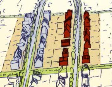 knipsel uit kavelpaspoort - 3D schets huizen fase 4
