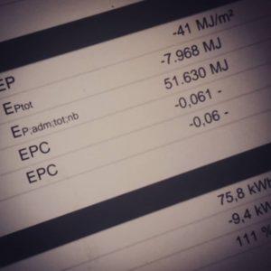 Instagram foto van rapport waarin EPC = -0,06 staat