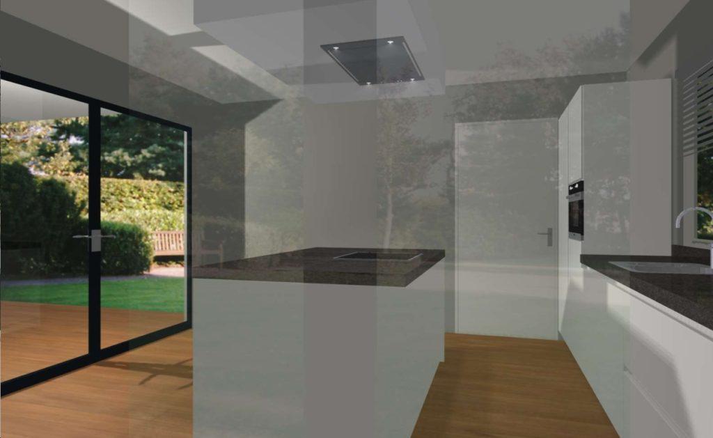 3D afbeelding keuken ontwerp