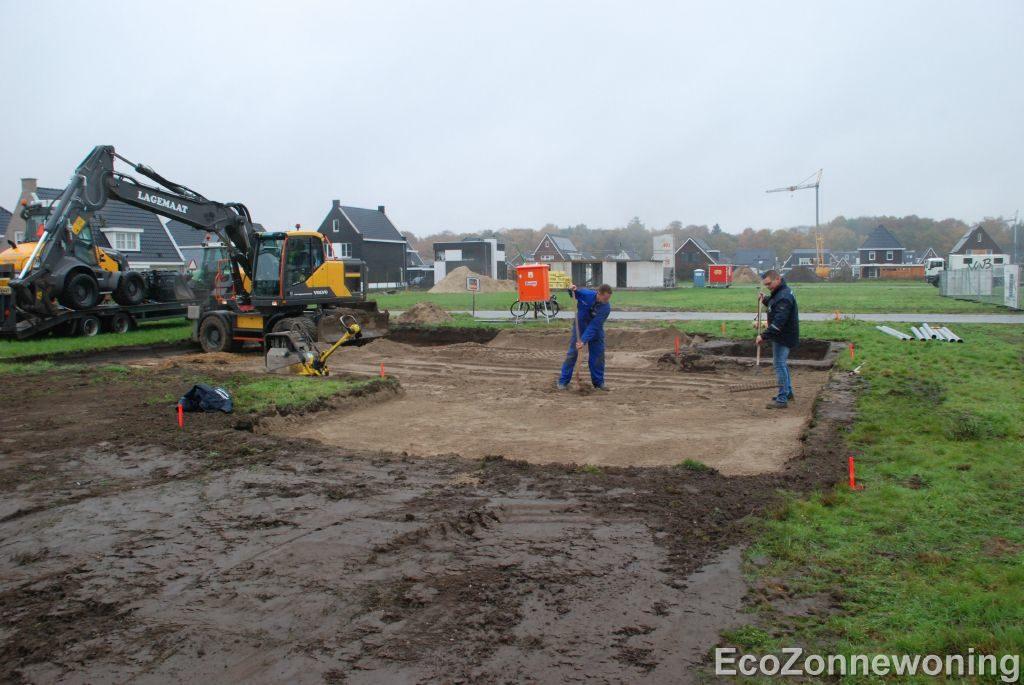Afgegraven en weer opgevuld grond