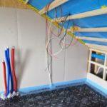 Bedrading van panelen binnen - nog niet aangesloten