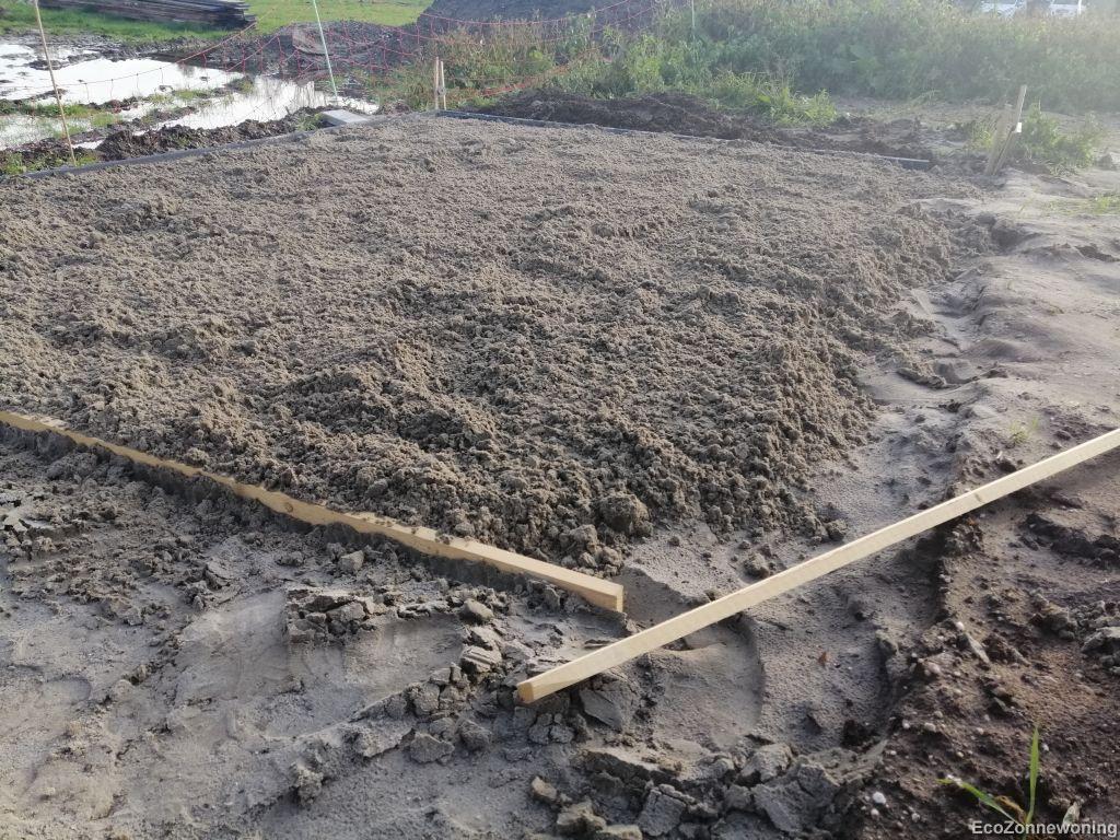 Nog een extra laag zand erop