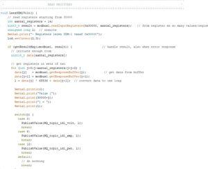 programmeercode in Arduino